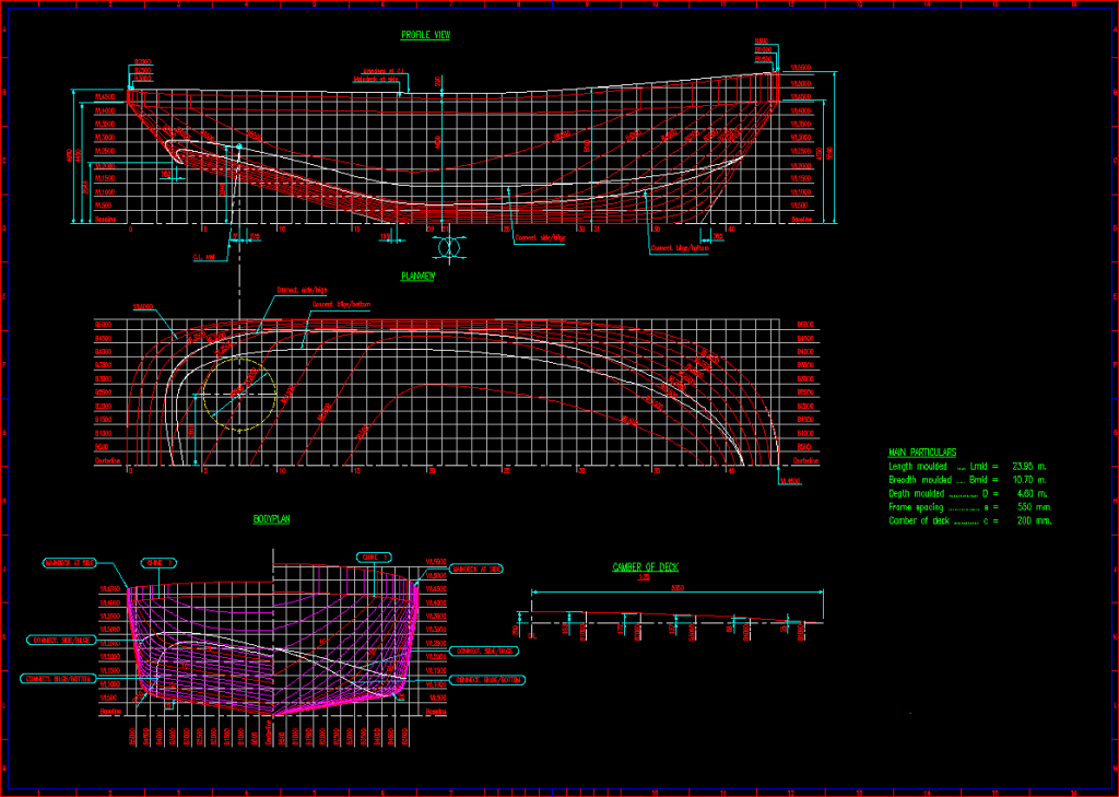 Lines Drawing Naval Architecture : Lines plans and offsets drawings modeca ltd ship